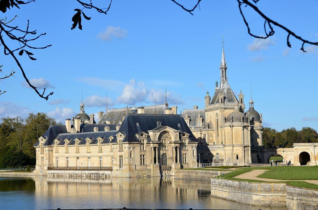 Château de Chantilly - Musée Condé - Vue générale depuis l'entrée du parc