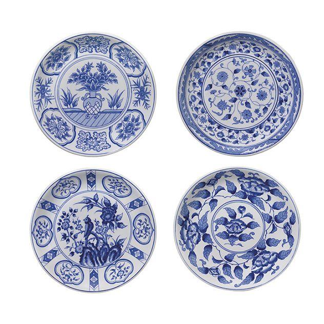 Andrea By Sadek Blue White Porcelain 8 75 Blue And White Dinnerware Plates Blue White Decor Blue and white salad plates