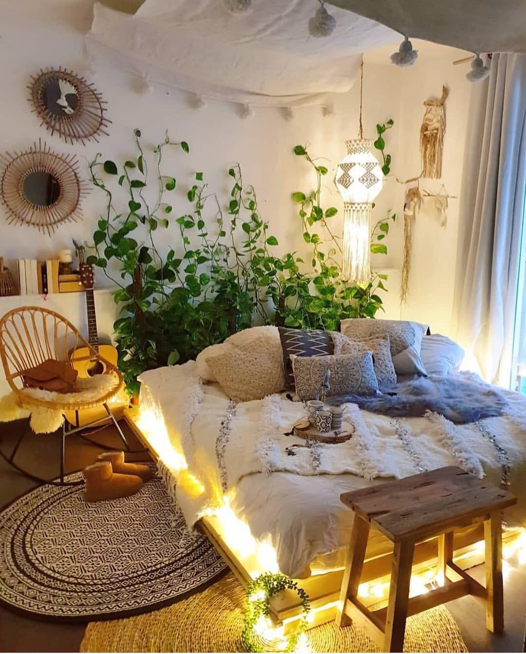 boho #bohemiandecor #bohobedroom #chambre #chambreboheme