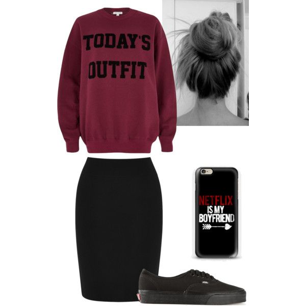 A fashion look from January 2015 featuring River Island sweatshirts, Warehouse mini skirts and Vans sneakers. Browse and shop related looks.