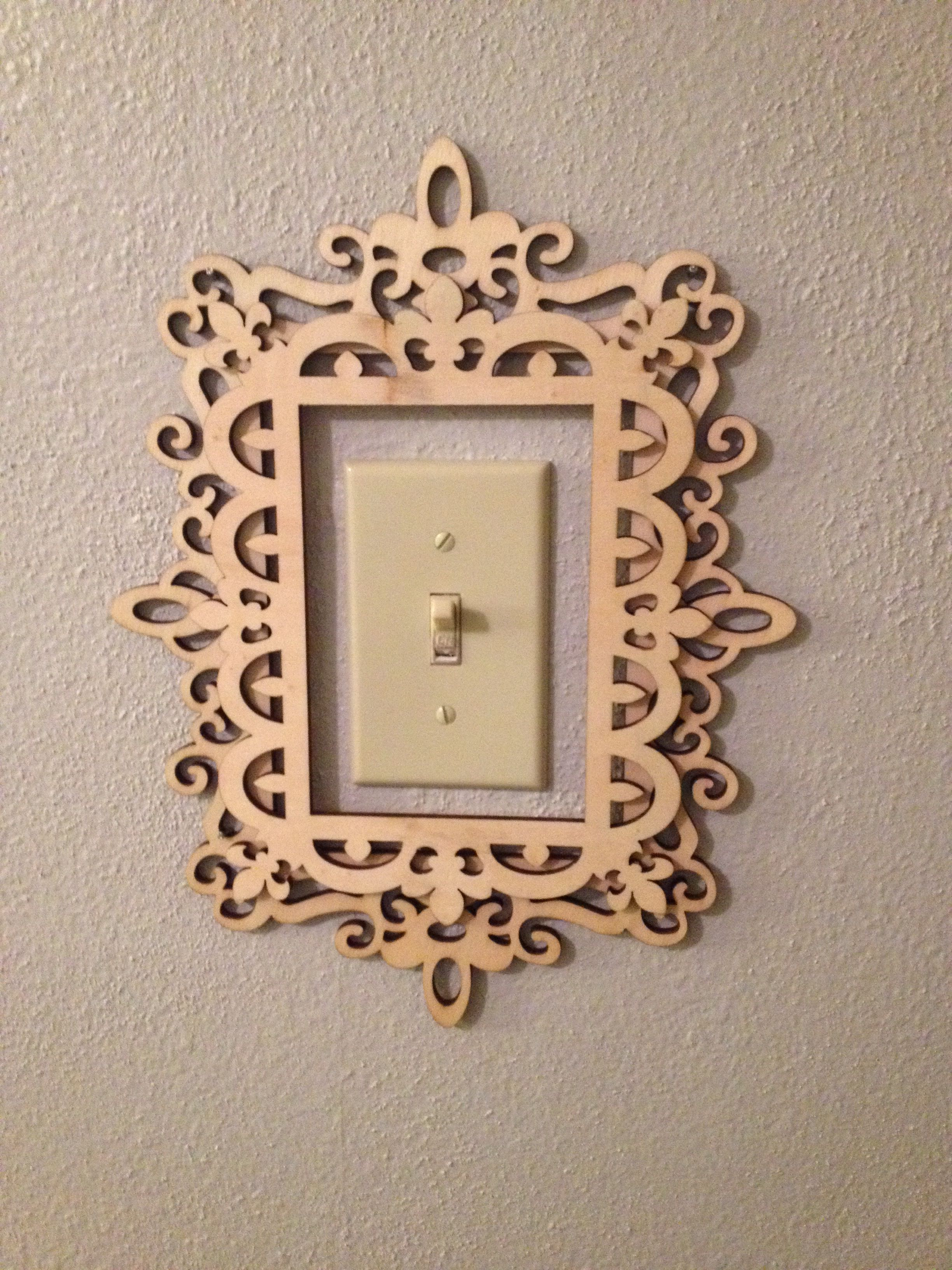 Cute for a light switch or thermostat!! Diy apartments