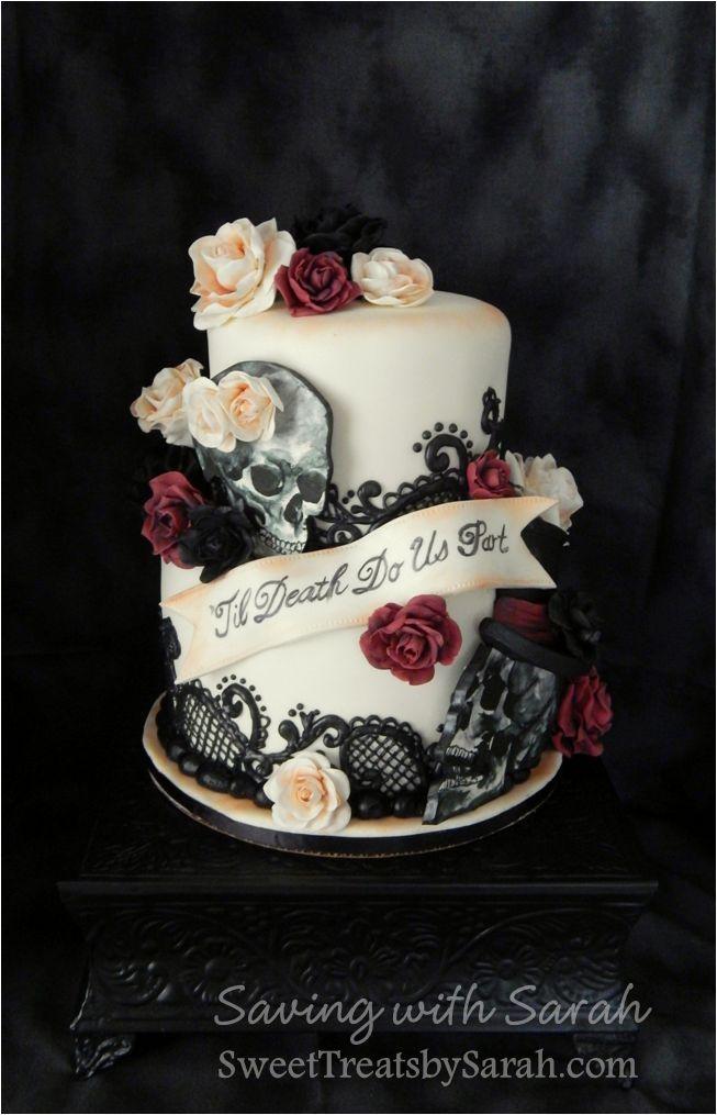 Gothic Wedding Cake U0027Til Death Do Us Part