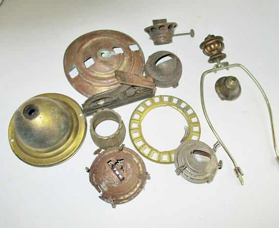 Vintage lamp parts salvaged lamp findings 11 pieces brass metal vintage lamp parts salvaged lamp findings 11 pieces brass metal industrial assemblage aloadofball Choice Image