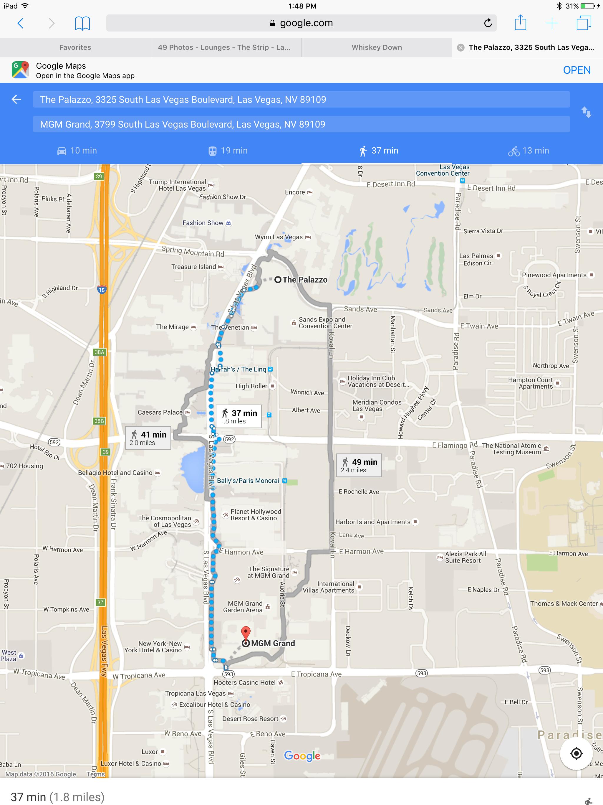 MGM hotel Google maps app, Vegas, I google