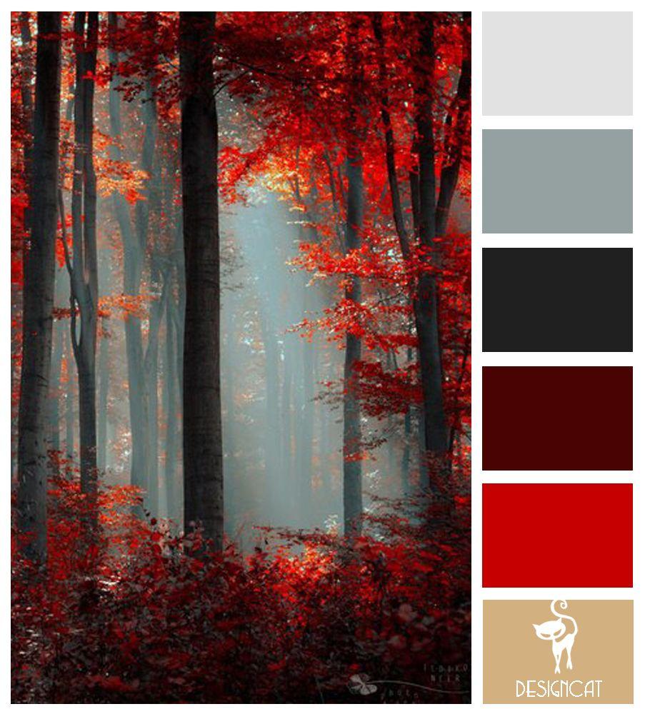 Dark Gray Color Scheme: Maple Mist: Grey, Slate, Brown, Red, Burgundy, Beige, Sand