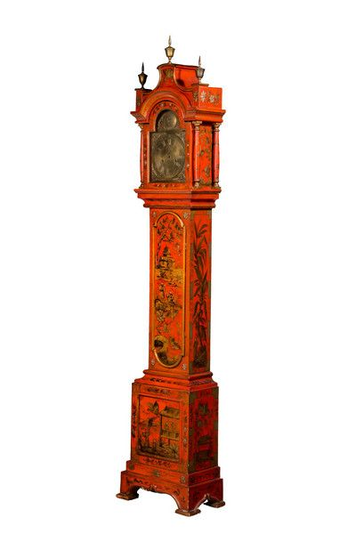 Early 20th Century Chinoiserie Granddaughter Clock