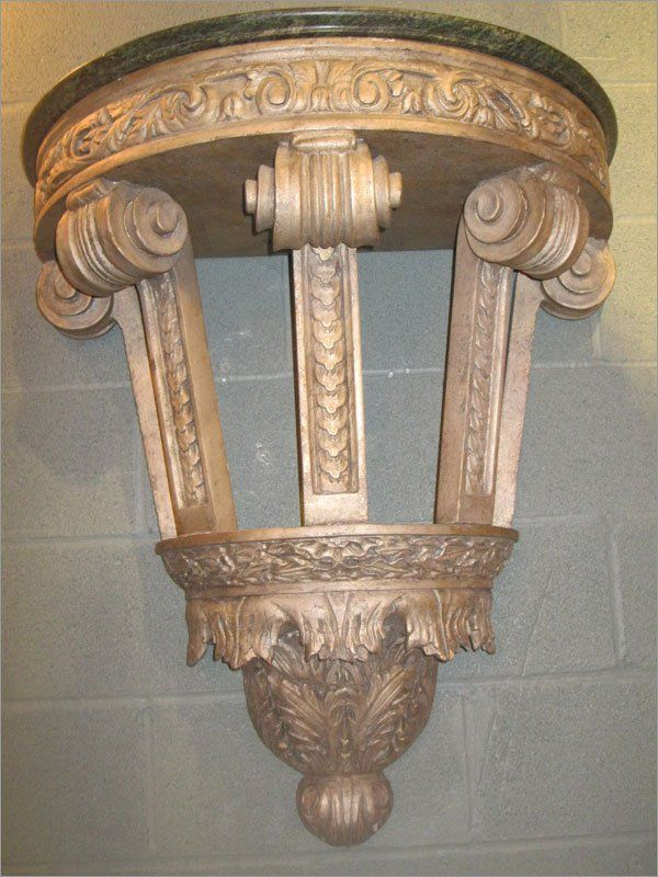 Pair of Architectural Elements Made Into Consoles