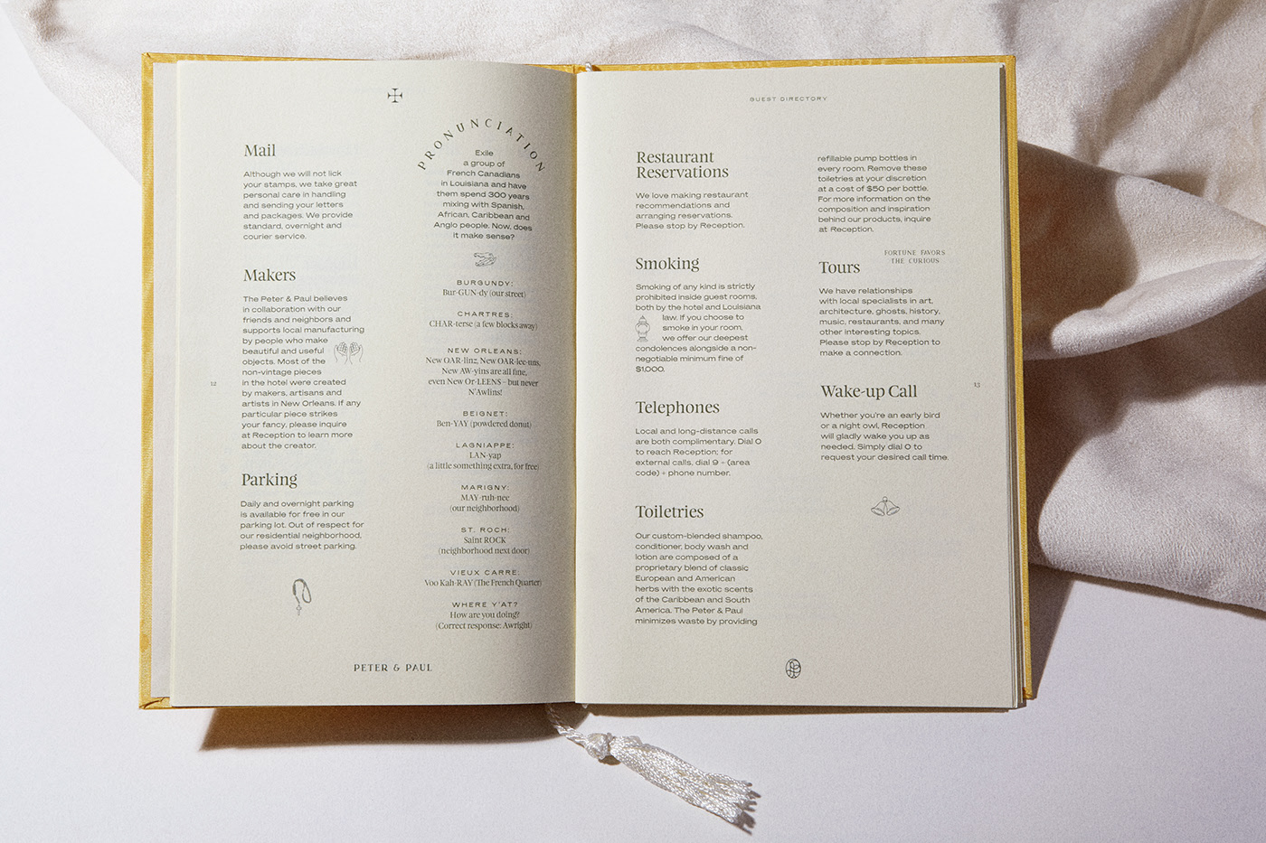 Hotel Peter Paul On Behance Restaurant Branding Identity Book