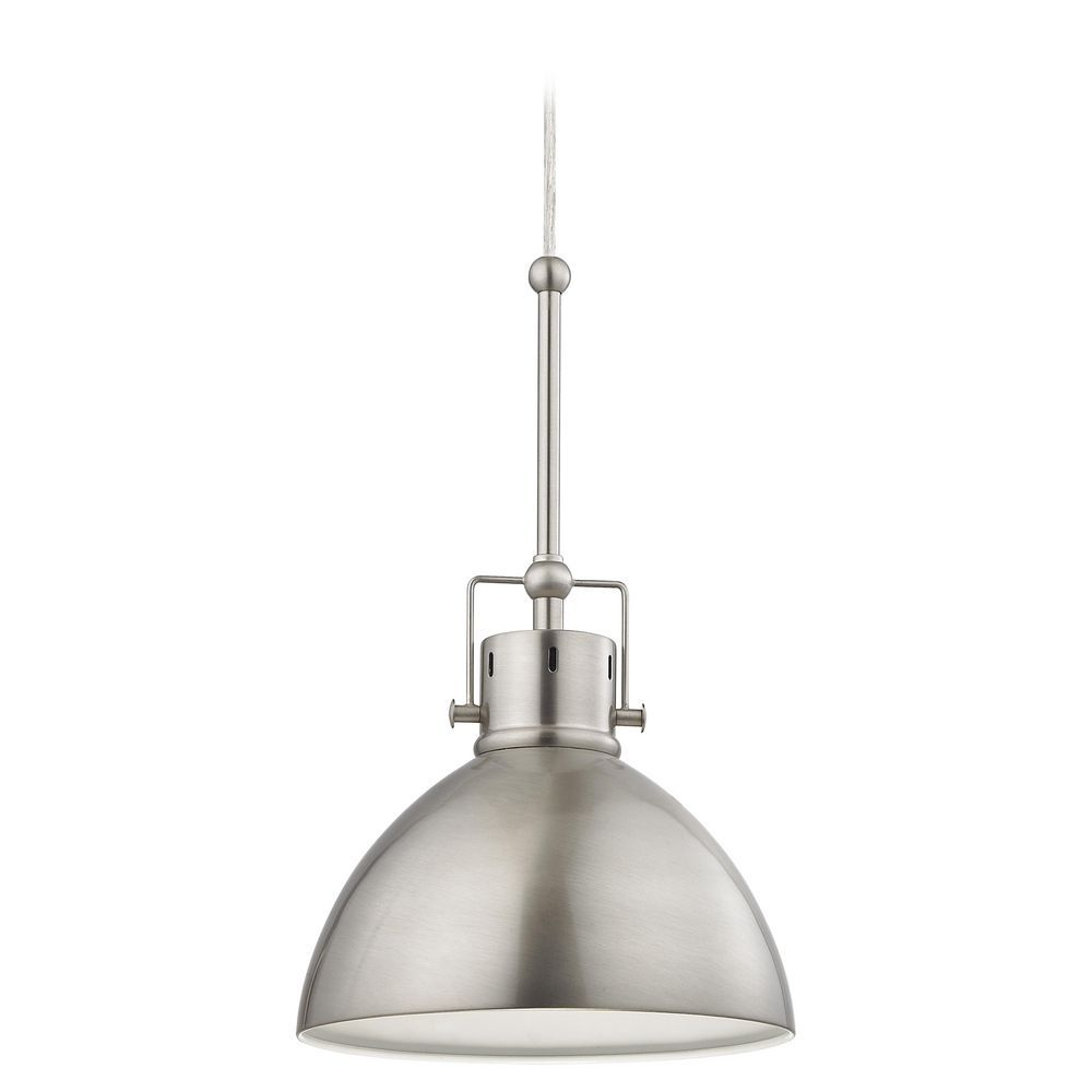 Satin Nickel Dome Metal Pendant Light | Mini pendant lights, Pendant ...