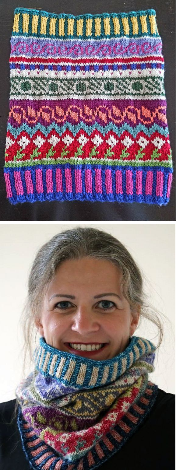Free Knitting Pattern for All That Jazz Cowl - This stranded and ...