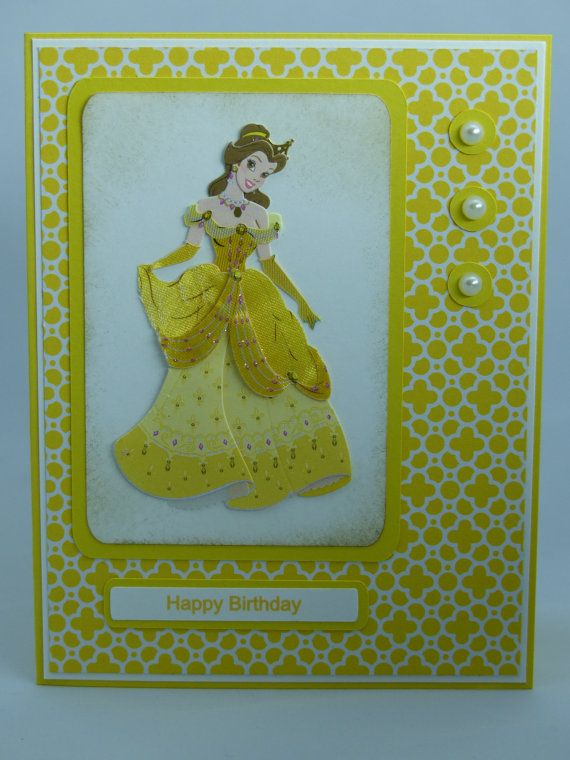Included Is One Handmade Disney Inspired Princess Belle From Beauty And The Beast Birthday Card Use Coupon Code PIN12 To Save 12 Now