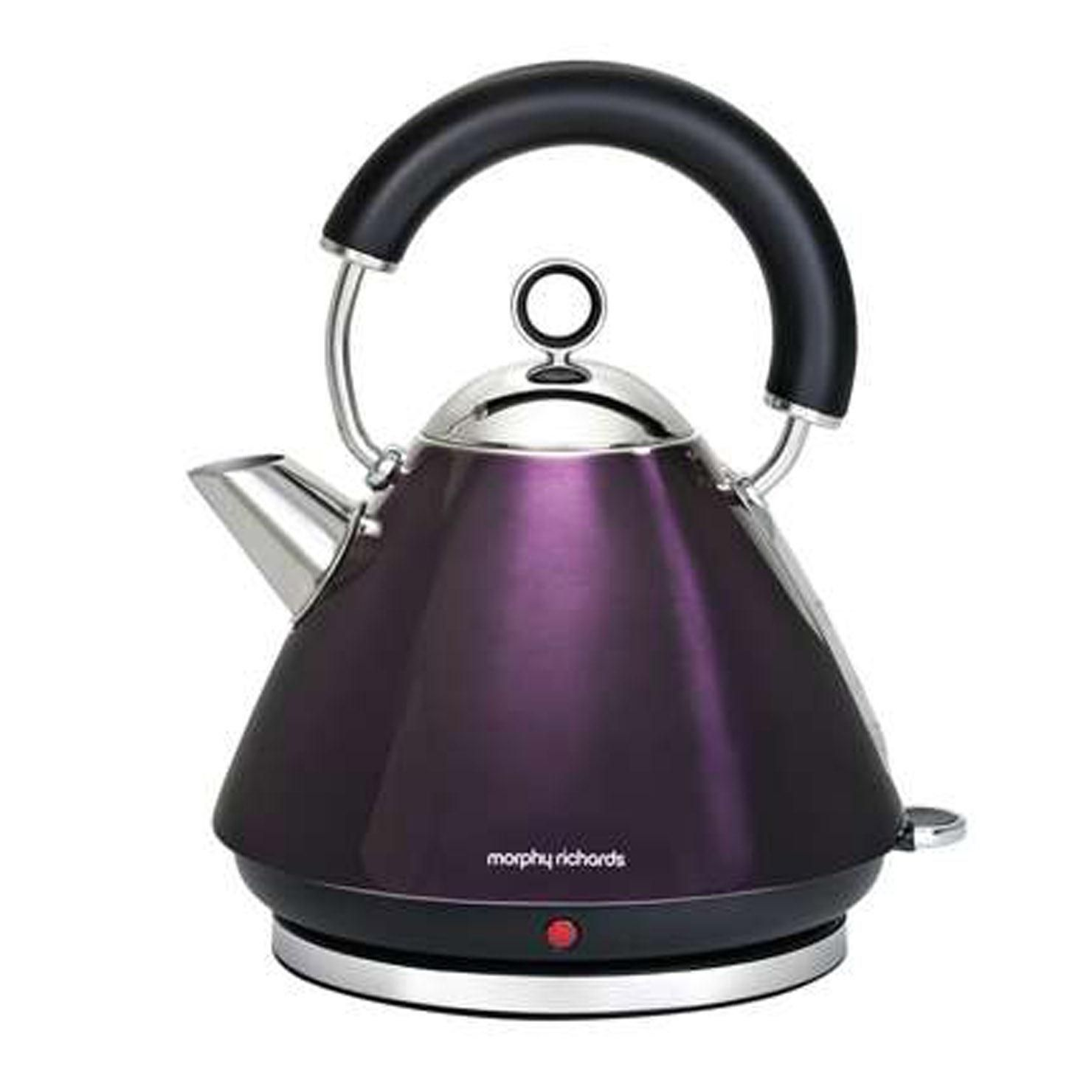 Morphy Richards Accents Traditional Kettle, Plum | Traditional ...