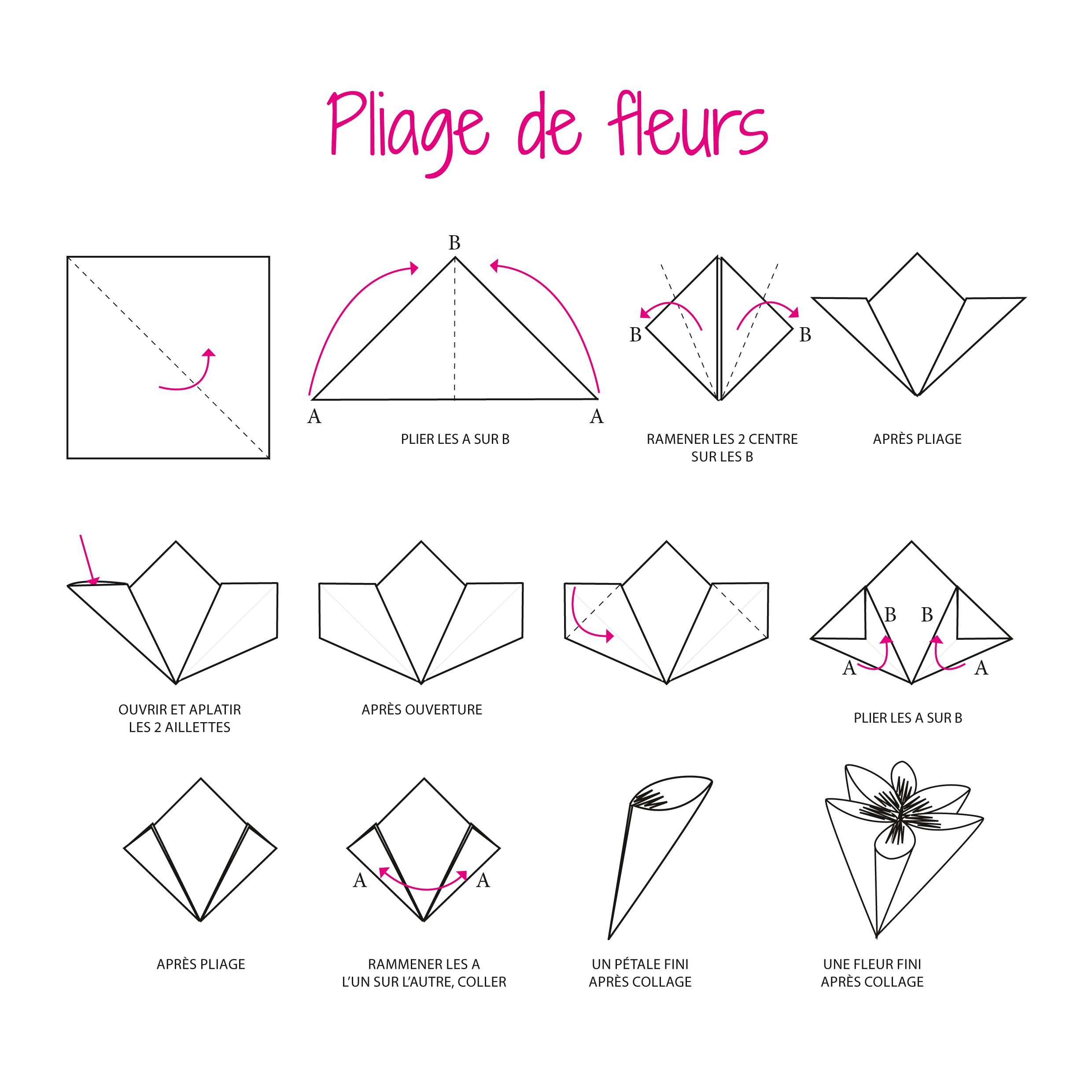 origami facile une fleur 3d origami pinterest origami origami paper and paper. Black Bedroom Furniture Sets. Home Design Ideas