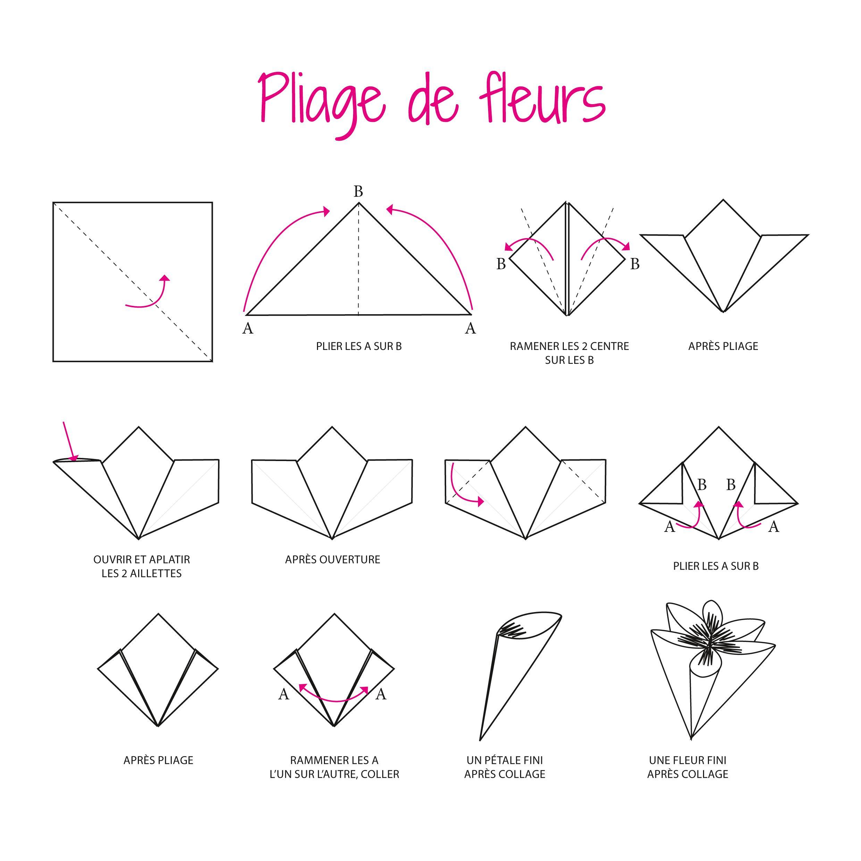 Origami facile : une fleur 3D | Origami, Origami paper and Paper mache