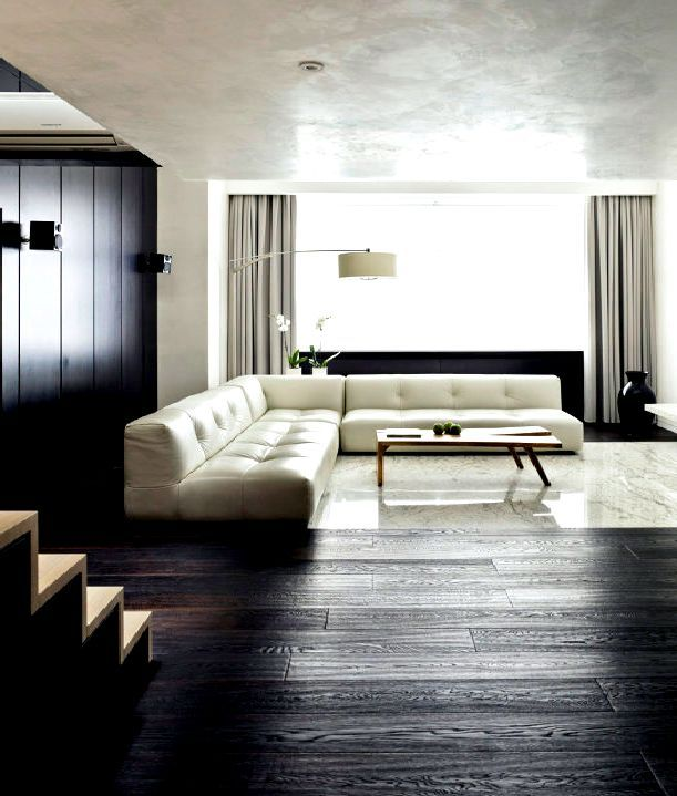Home Trends: minimalist living room with white color design ...