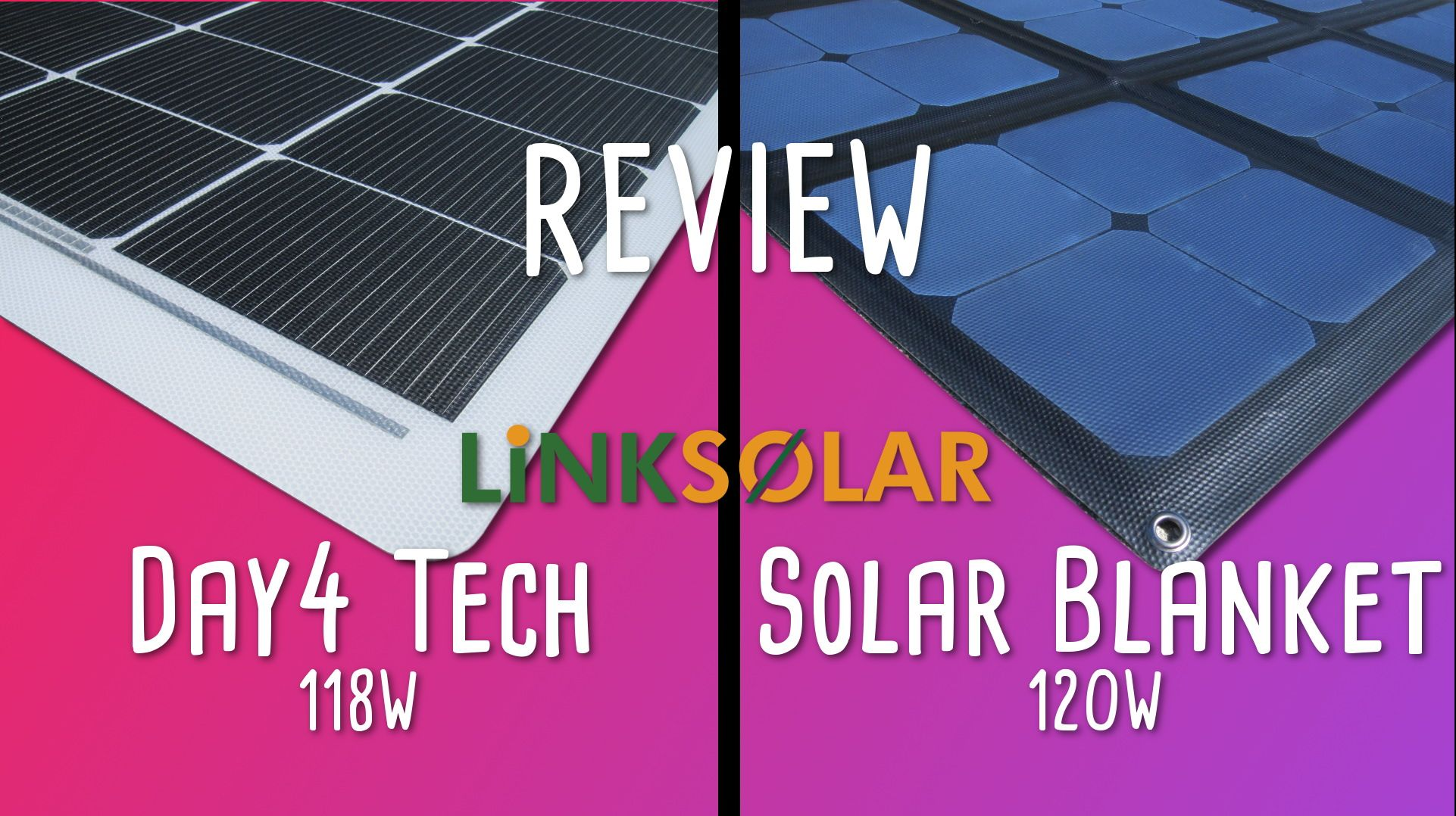 This Is A Short Review Of Two Brand New Flexible Solar Panels The Day4 Tech Panel Looks Very Similar To The Current F Flexible Solar Panels Solar Panels Solar