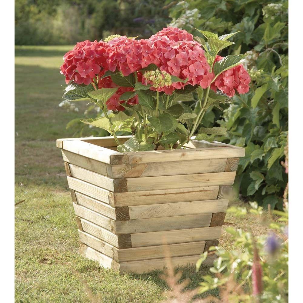 Wooden planter ludlow