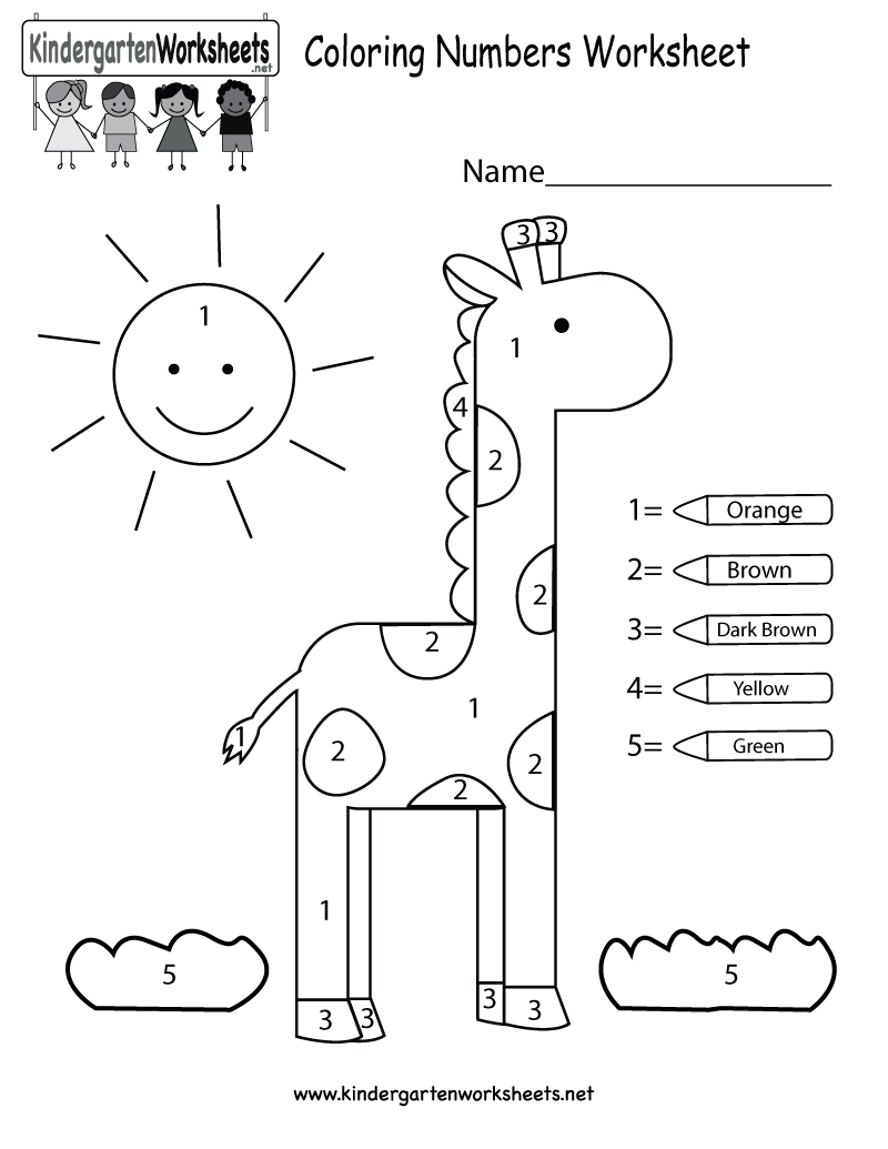 – Free Kindergarten Number Worksheets