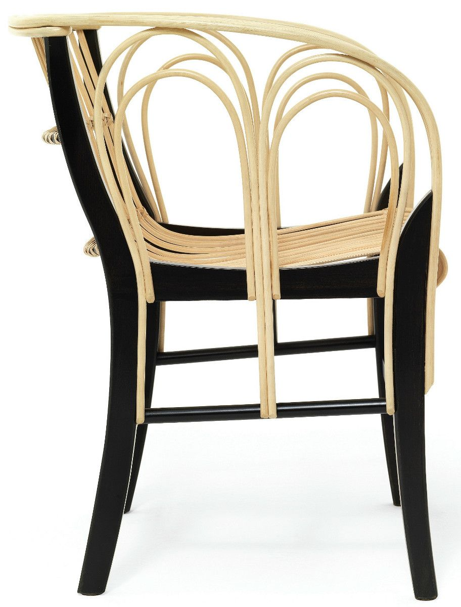 Woven wicker chair with armrests URAGANO by DE PADOVA | #design Vico Magistretti