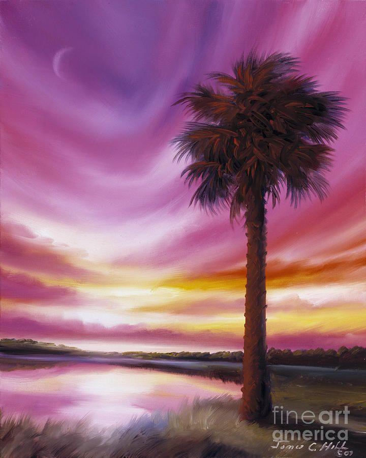 Palmetto Moon Painting  - Palmetto Moon Fine Art Print