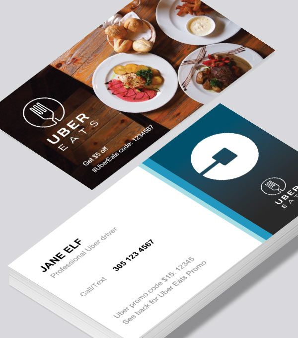 Uber Eats Business Cards Hungry Anyone A Template For The Smart Business Man Modern Business Cards Design Business Card Design Business Cards
