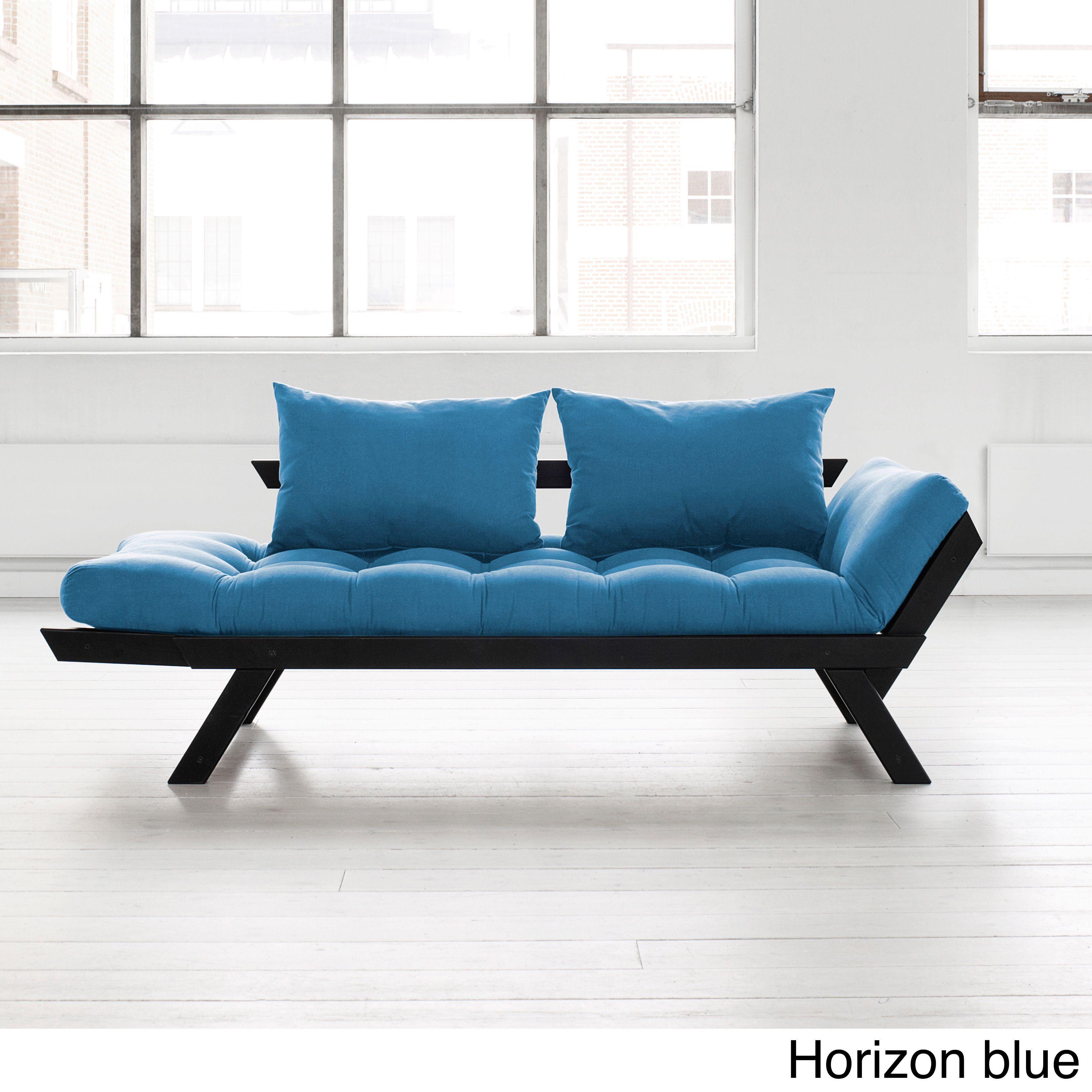 fresh futon bebop black frame with  mattress colors (lime  - fresh futon bebop black frame with  mattress colors (horizon bluemattress)