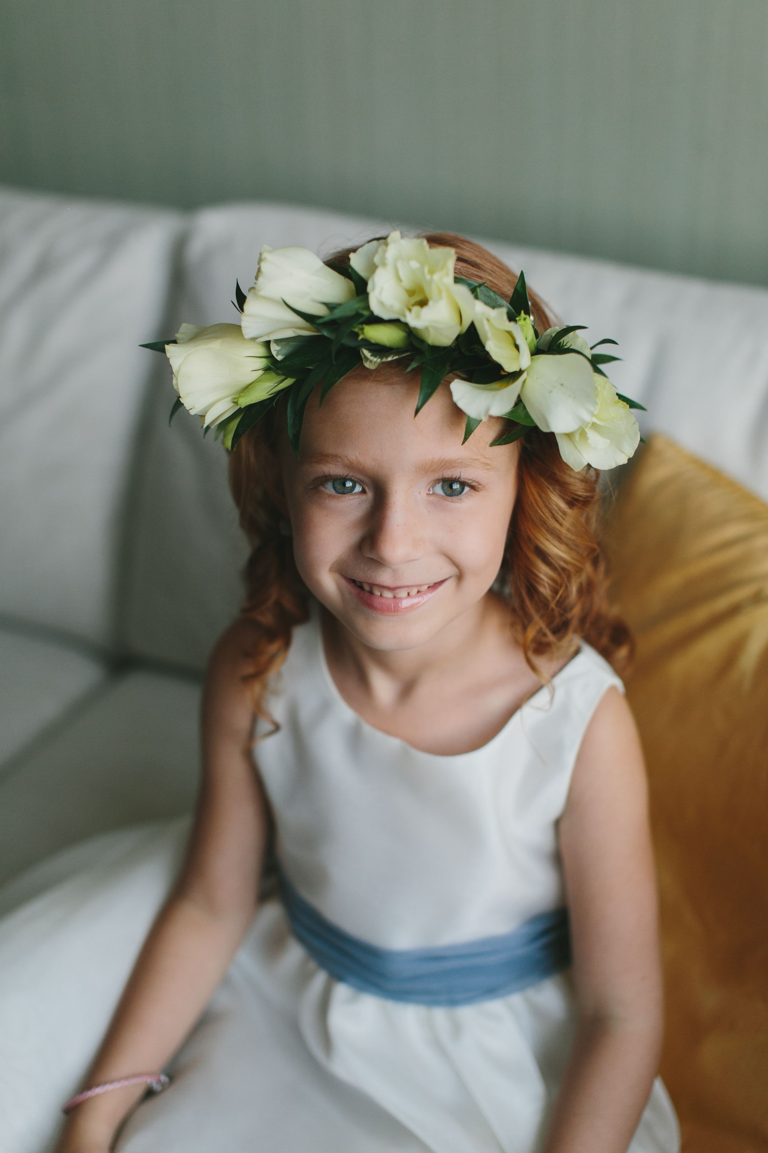 Lisianthus And Italian Ruscus Floral Crown