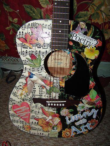 My new project guitar art decoupage guitars and craft my new project guitar art mod podge craftsdiy solutioingenieria Gallery