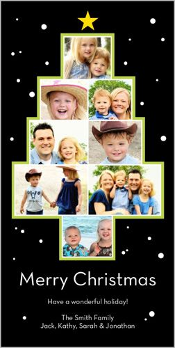 Shutterfly Picture Tree Christmas 4x8 photo card Send cheer to