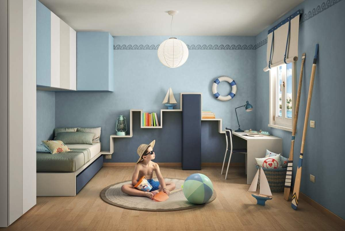 Trundle bed for kids 39 bedroom lagolinea by lago design for Negri arredamenti camerette