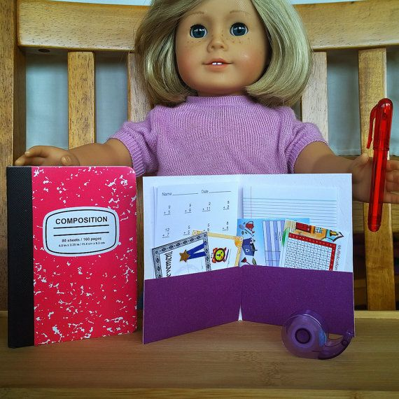 Mini School Supply Accessories Set fits by PocketParchment on Etsy ...