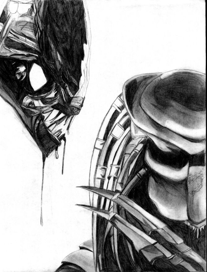 alien vs predator drawing wwwpixsharkcom images