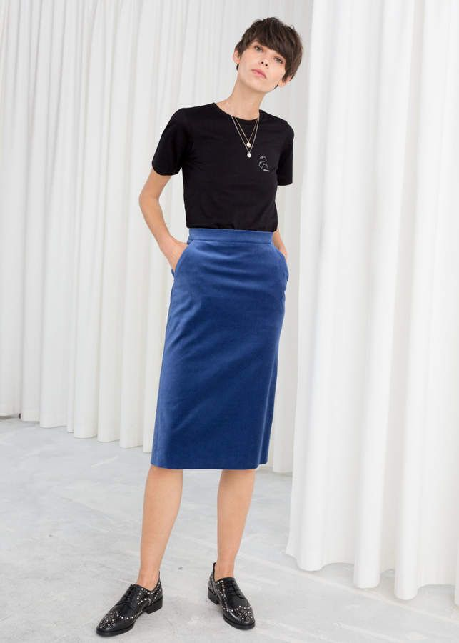 meticulous dyeing processes cheap price choose best And other stories Velvet Midi Pencil Skirt | Products in ...