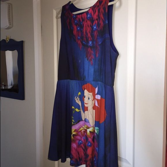 Ariel little mermaid dress Disney style Worn once, like new. Comfortable and so cute! Hot Topic Dresses Mini