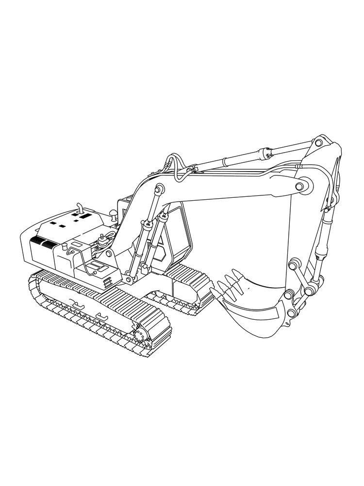 Excavator Coloring Pages Free Excavators Are Heavy Equipment Consisting Of Arms Booms And Buckets Coloring Pages Coloring Pages To Print Truck Coloring Pages
