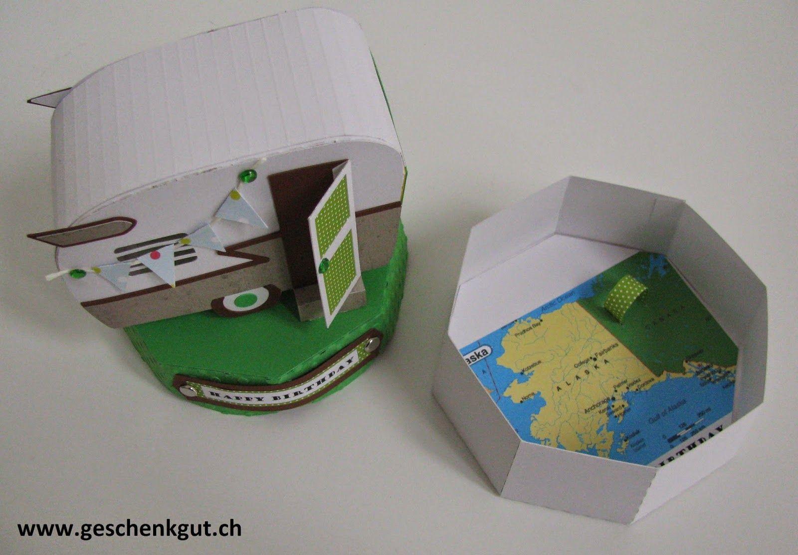 Geldgeschenk Wohnwagen Camper Geschenkverpackung Geschenkgutschein