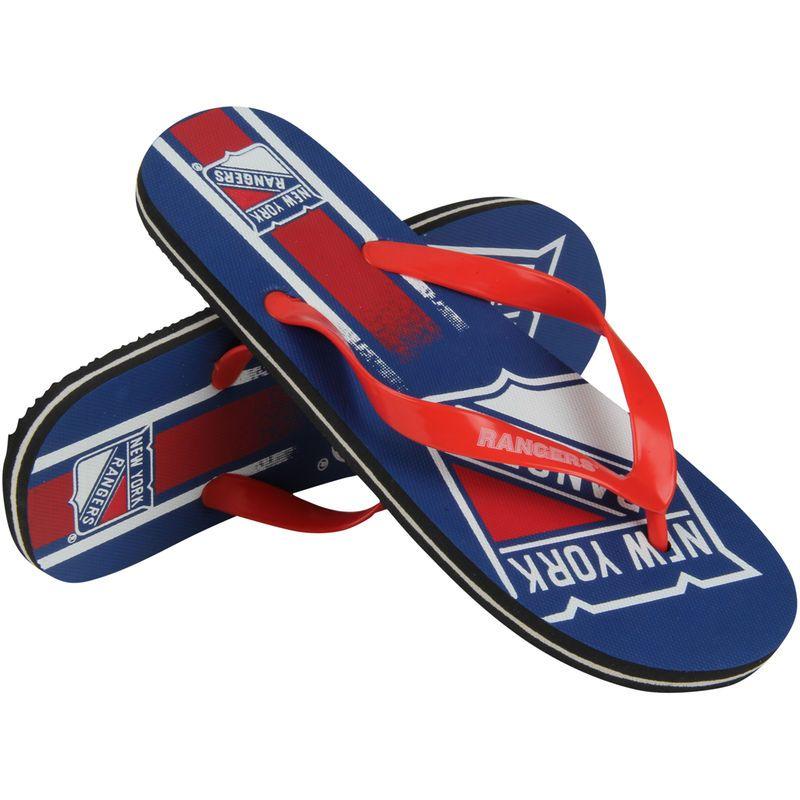 New York Rangers Gradient Flip Flops