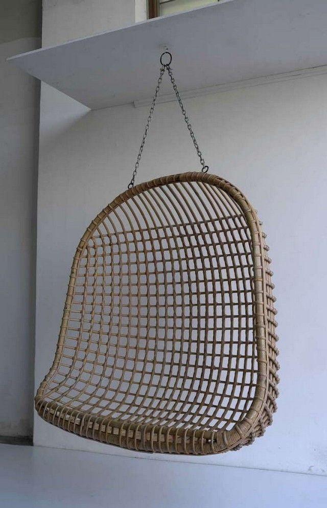 Fauteuil suspendu un meuble au design amusant et styl meuble mobilier fauteuil suspendu - Siege suspendu salon ...