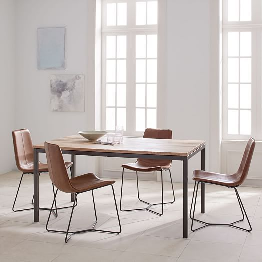 Box Frame Expandable Dining Table West Elm Dining Room Design