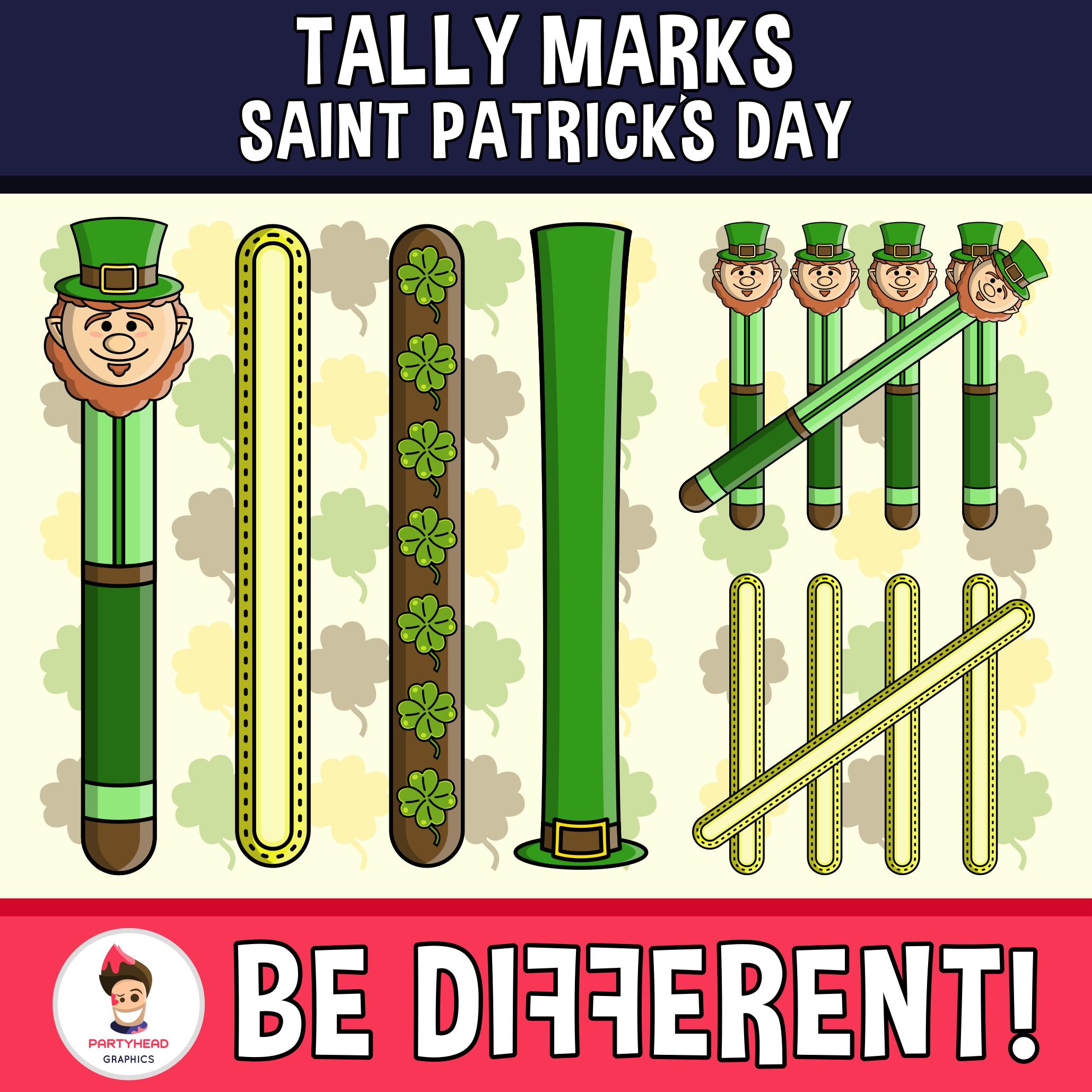 Tally Marks Clipart Saint Patrick S Day Edition Clip Art Tally Marks St Patrick S Day