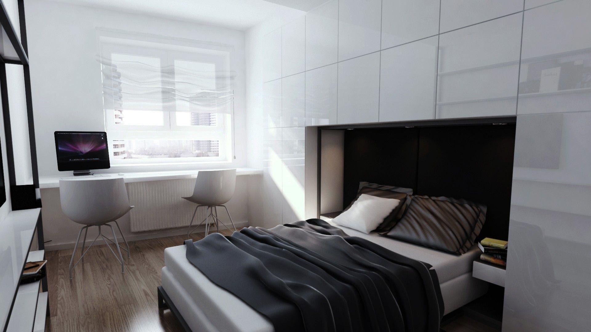 Minimalistyczna Sypialnia W Bloku Projekt Aranżacji Wnętrza