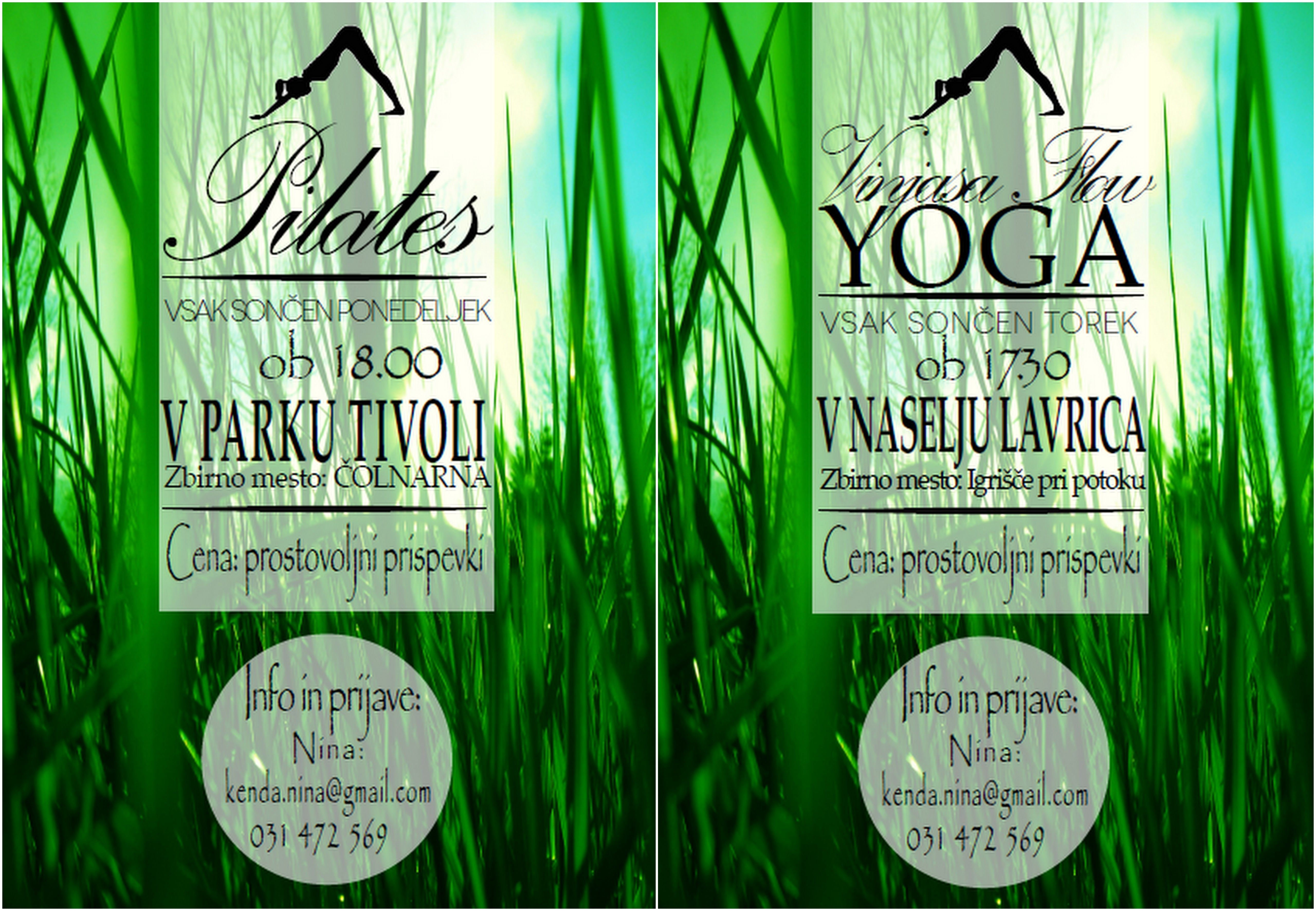 Flyer for outdoor yoga and pilates courses. #pilatescourses Flyer for outdoor yoga and pilates courses. #pilatescourses