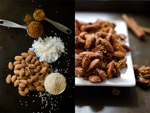 Cinnamon Curry Almonds (In slow cooker)