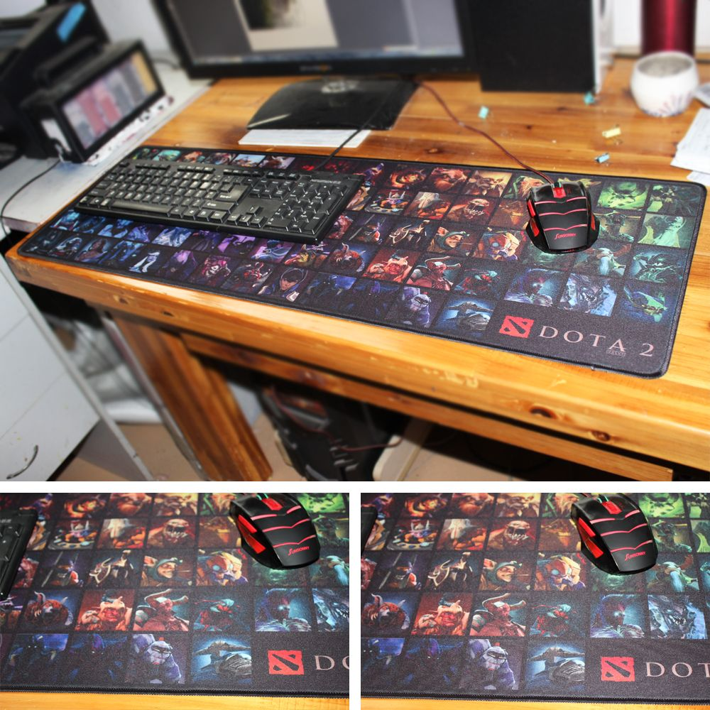 dota 2 characters large mouepad thickness 2mm size 30x60cm