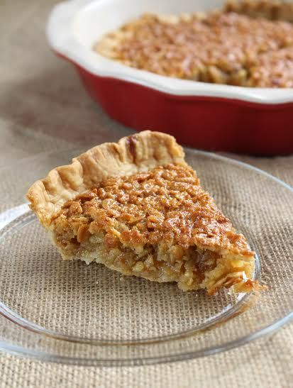 """Amish """"Pecan"""" Pie - An easy pie recipe that tastes just like pecan pie but it's made with oats! Nothing beats this budget-friendly oatmeal pie."""