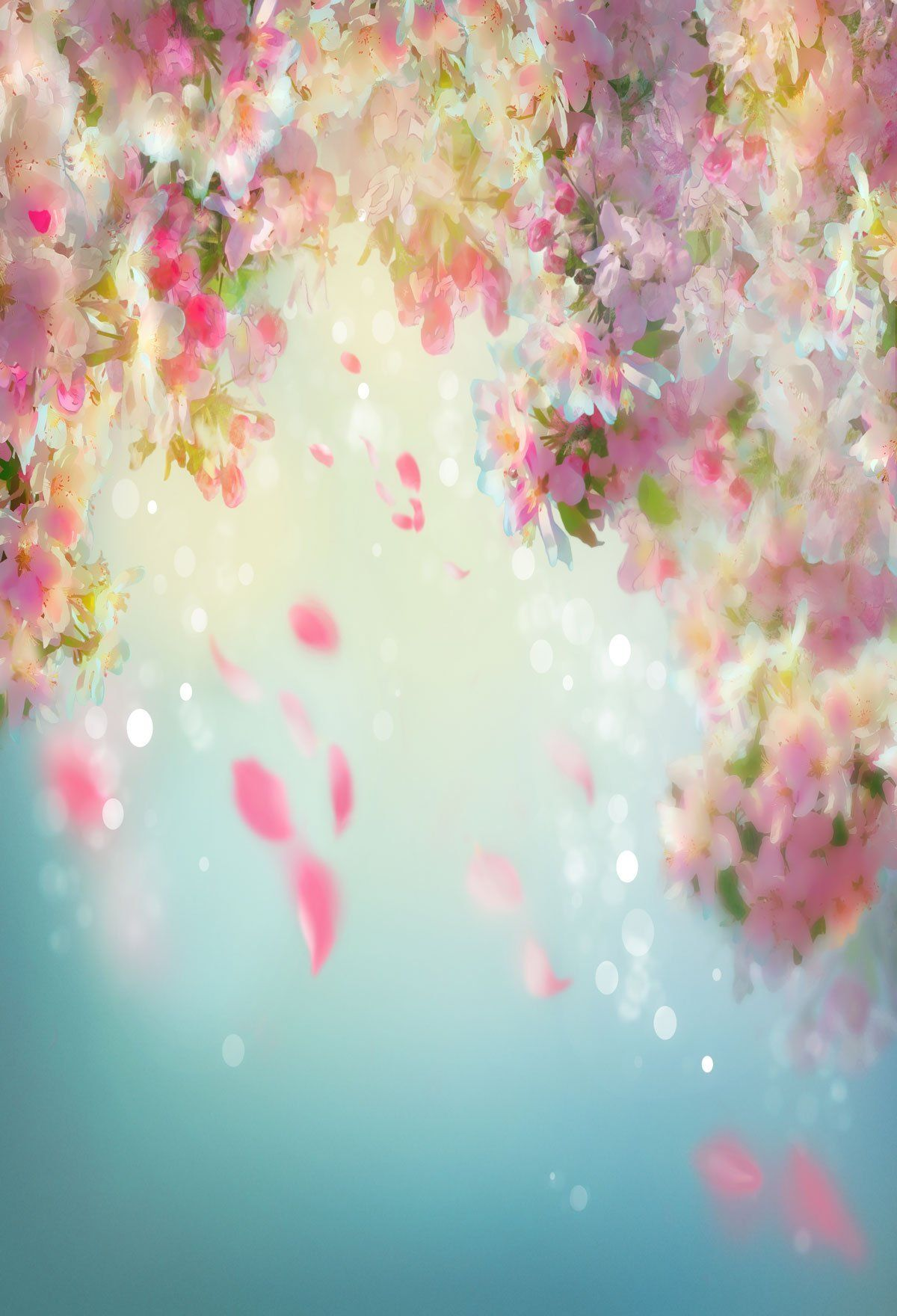 Fantasy Flower Backdrop For Events Photography Background - 14'W*20'H(4.2*6m)