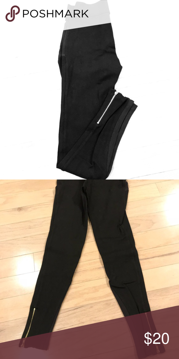 0f1efb4261d6d Zara Leggings w/ Zipper Detail These leggings are simple & versatile which  can be dressed up or down easily. They are high rise & hit at the ankle, ...