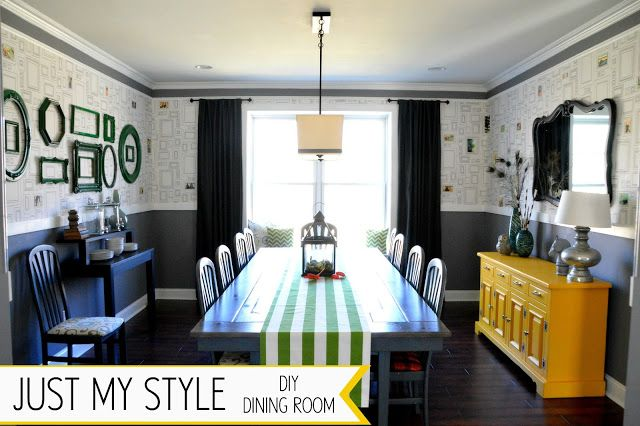 DIY Dining Room from East Coast Creative Blog- What an absolutely amazing dining room! I love this!