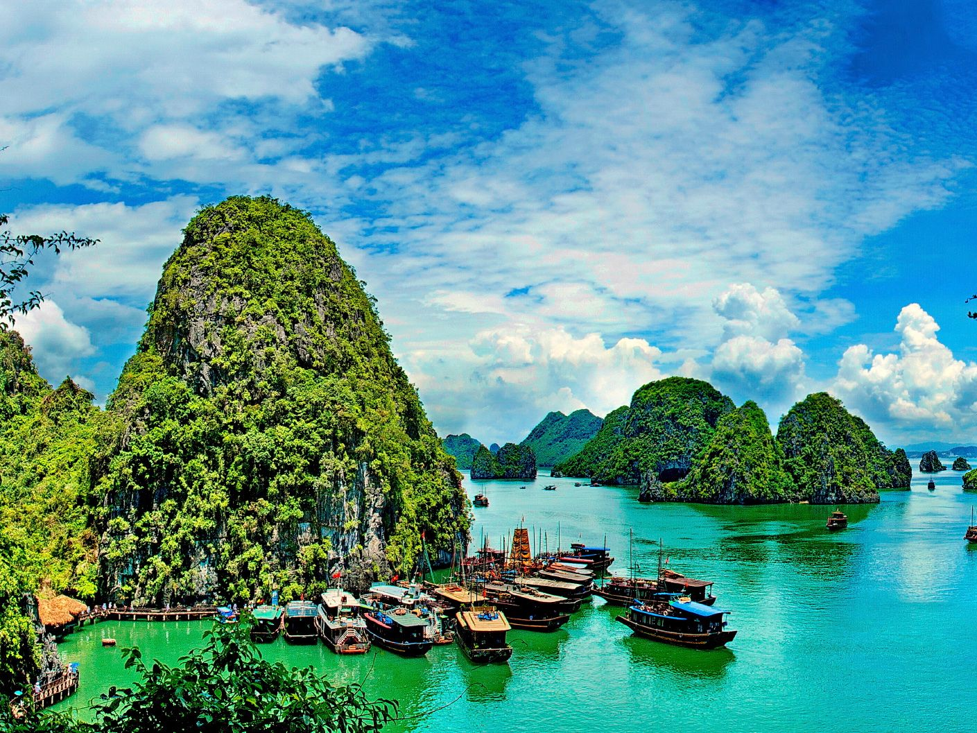 Hạ Long Bay, Vietnam A staple in Southeast Asian sightseeing, this ...