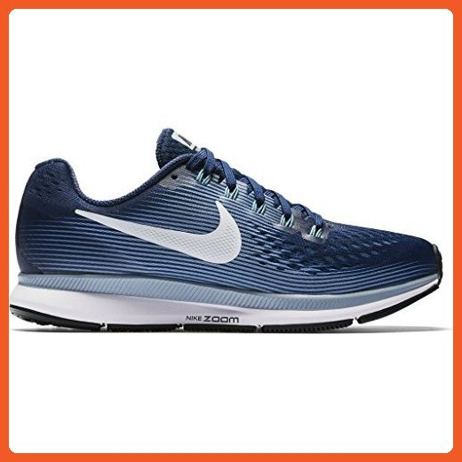 Nike Women's Air Zoom Pegasus 34 Running Shoe BINARY BLUE/WHITE-GLACIER  GREY-